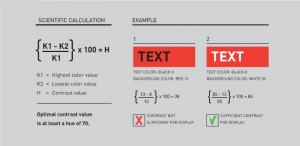 text colour chart