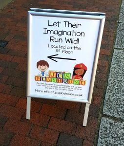 shop signage in West Sussex