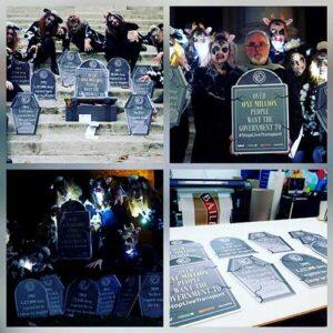 Gravestones foamex display boards