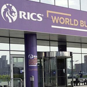 RICS exhibition fascia board and pillar wraps