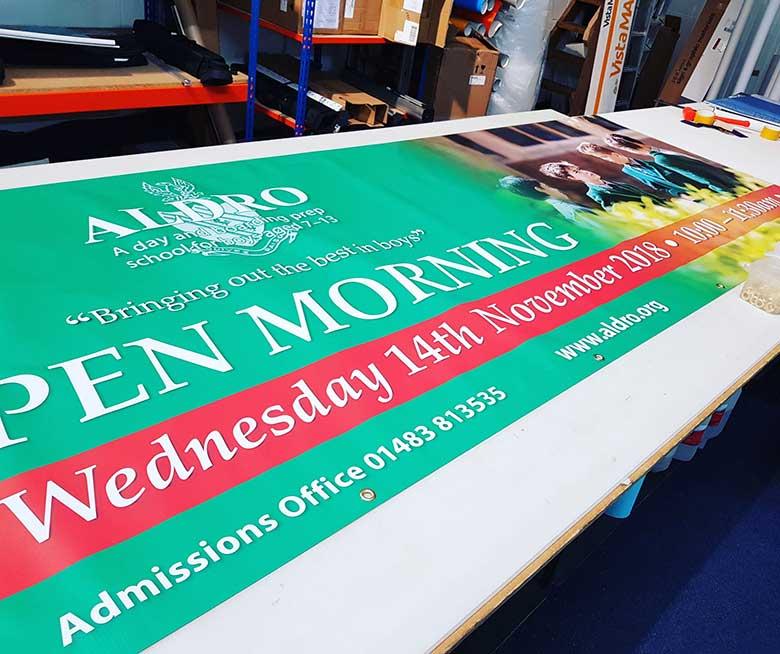 Banner printing at Bluedot Display