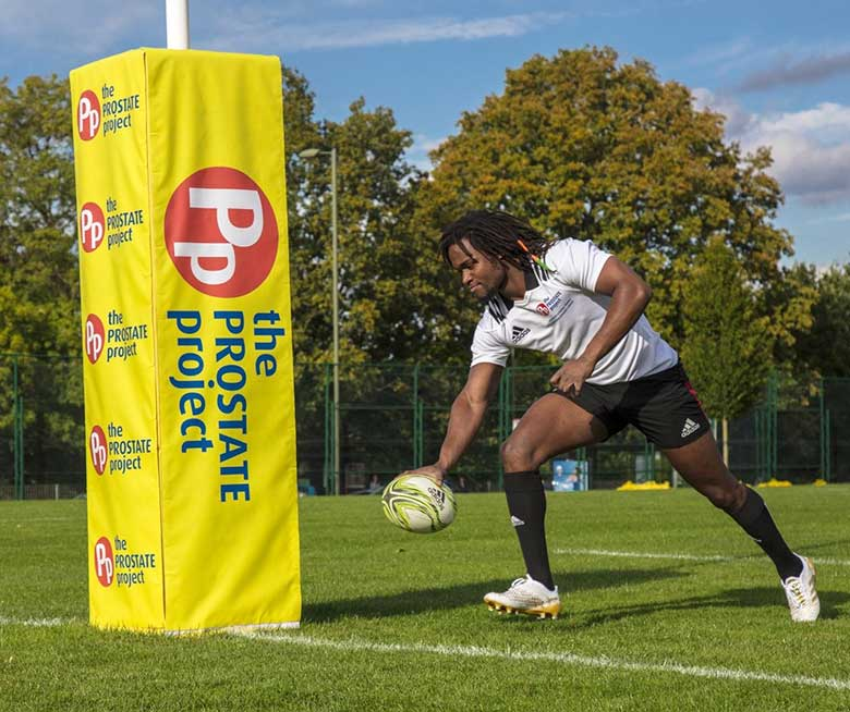 Rugby pvc banner for The Prostate Project by Bluedot Display